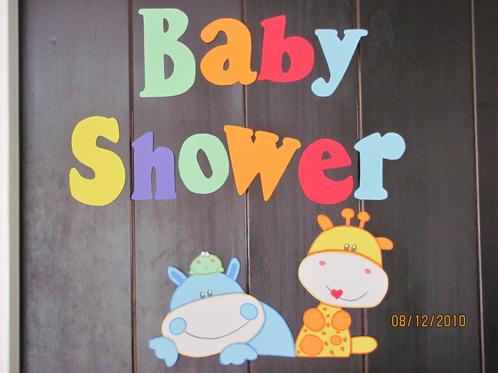 Cartel de puerta para Baby Shower